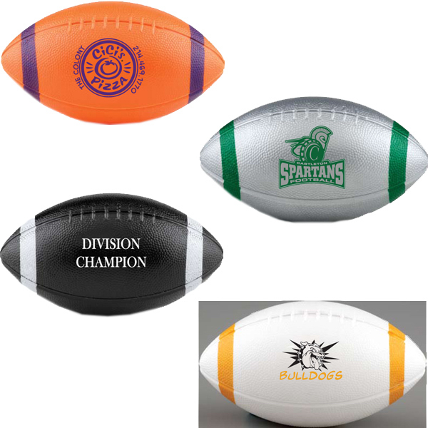 Custom Mini Plastic Football with End Stripes