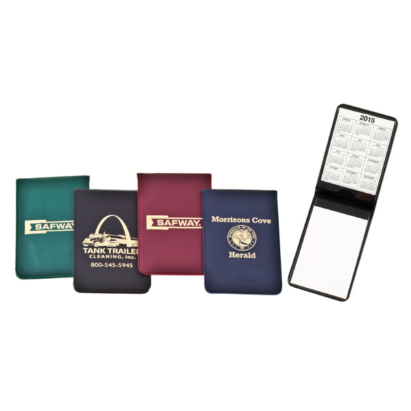 Printed Note Jotter in Traditional Color Vinyl Cases