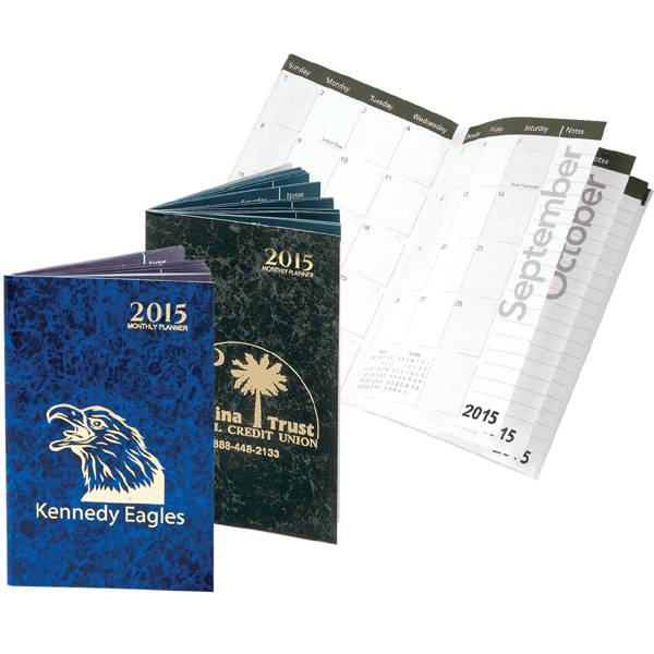Promotional Marble Elegance Monthly Pocket Planner