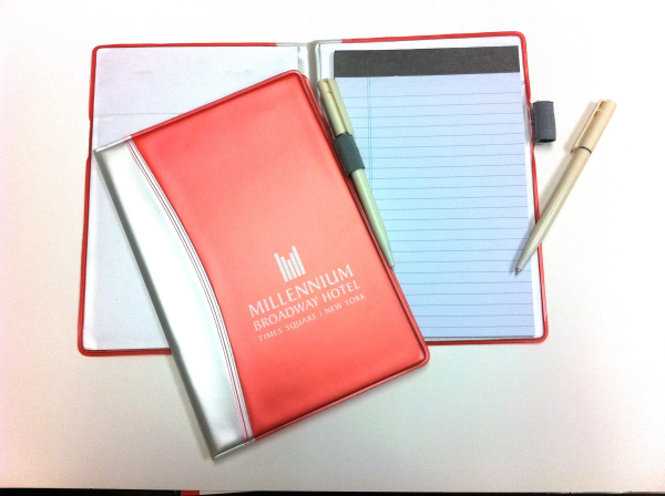 Imprinted Color Tech Junior Notepad and Pen