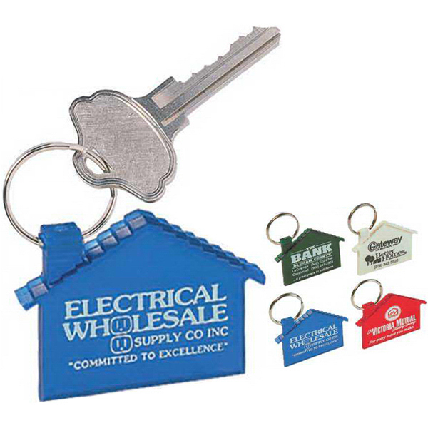 Imprinted Home Style Key Tag