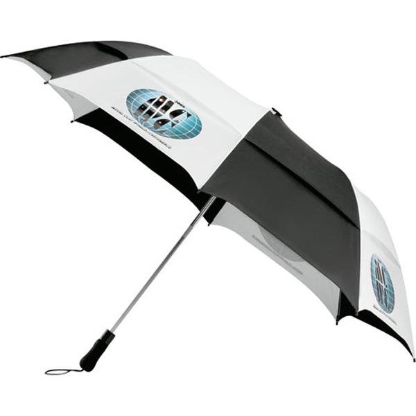 "Imprinted 58"" Vented Folding Golf Umbrella"