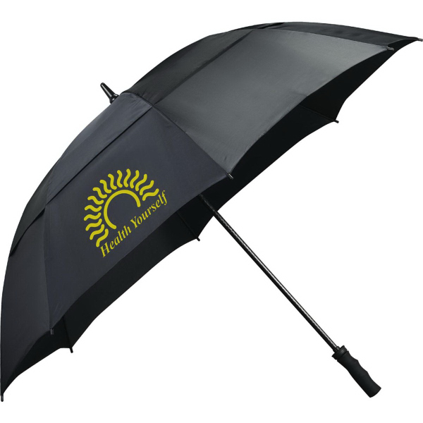 "Printed 62"" Course Vented Golf Umbrella"
