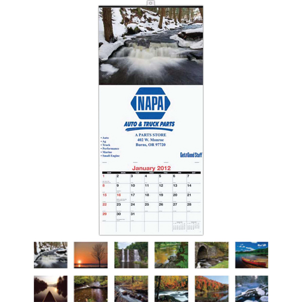 Imprinted Monthly Wall Calendar One Photo