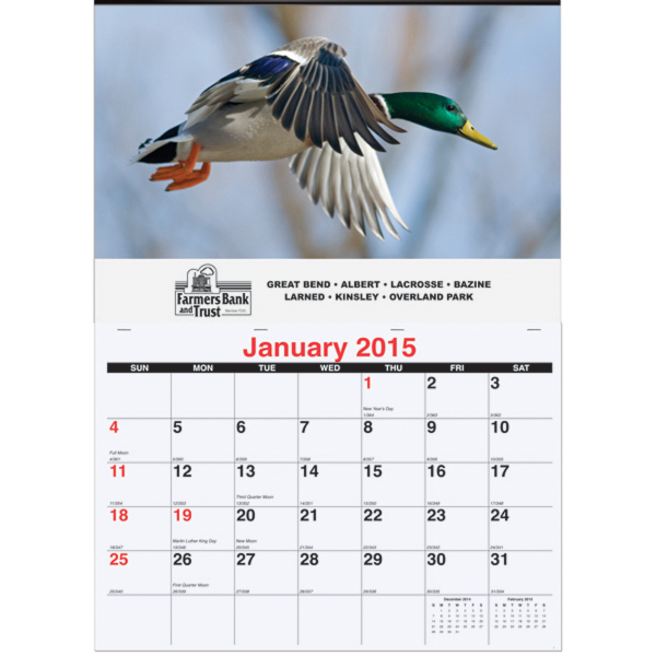 Personalized Monthly Wall Calendar One Photo