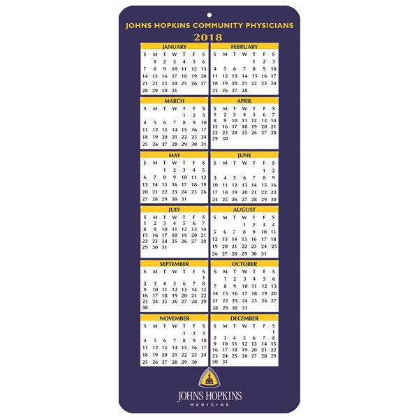 Custom Year On-A-Page Calendar Card
