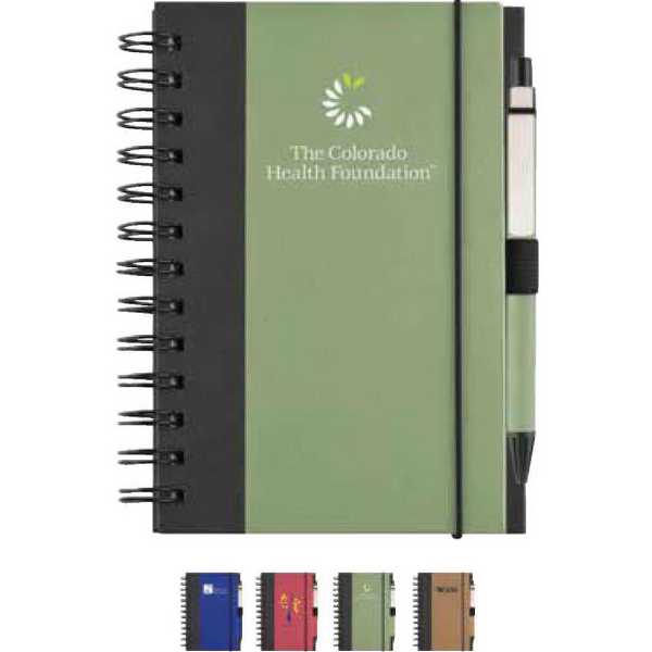 Custom Recycled color cover spiral notebook