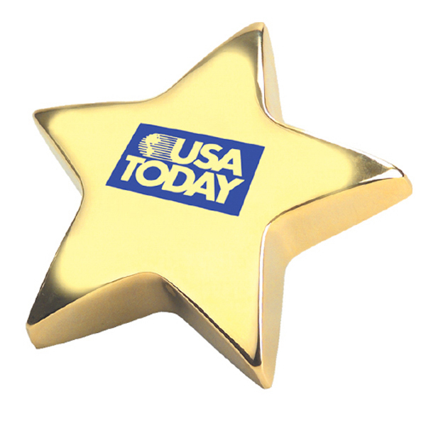 Imprinted Star Paperweight