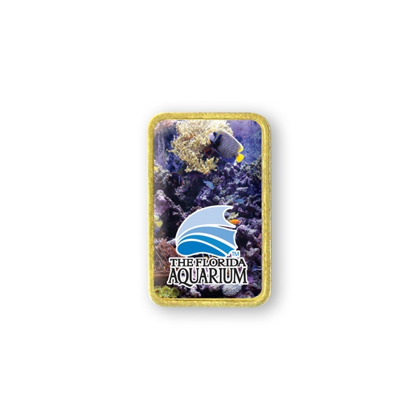 Customized Lapel Pin - 1 1/4 inches x 3/4 inch