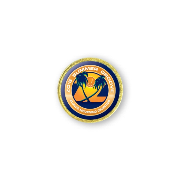 Printed Lapel Pin - 7/8 inches
