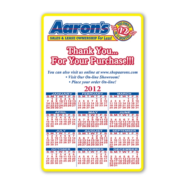 Custom Calendar Sheet - 5 1/2 inches x 8 1/2 inches