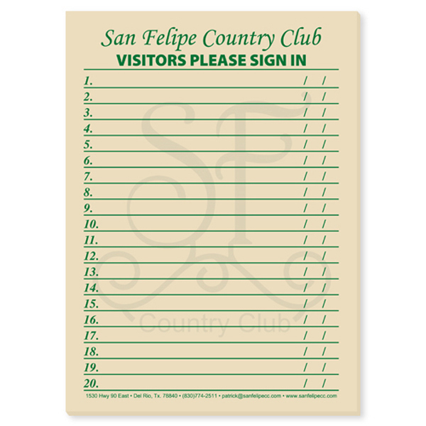 Personalized Memo Pad - 8 inches x 11 inches