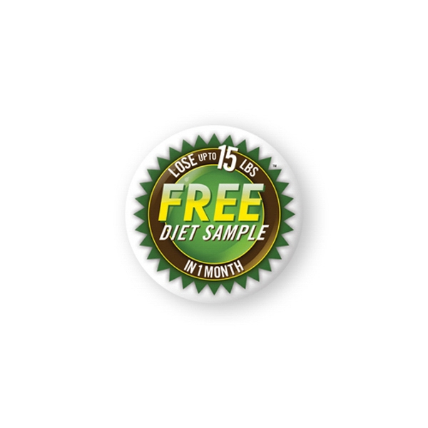 Promotional Domed Decal- 2 1/2 inches