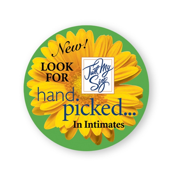 Imprinted Lapel Sticker - 3 inches