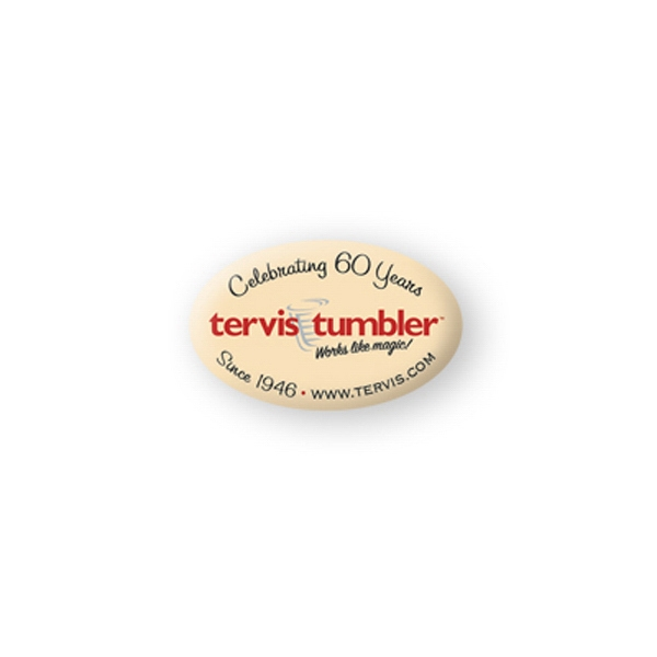 Promotional Domed Decal - 1 1/4 inches x 2 inches