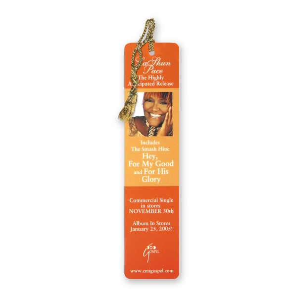 Promotional Bookmark - 1 3/4 inches x 7 inches