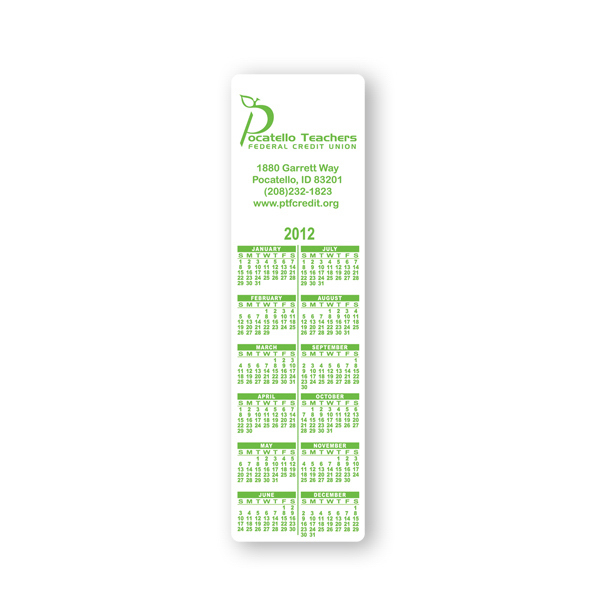 Custom Bookmark Calendar - 2 inches x 7 inches