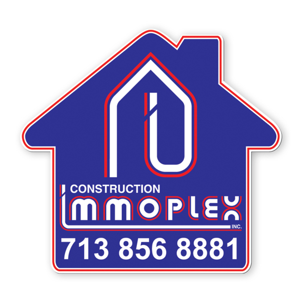 Imprinted Car Magnet - house