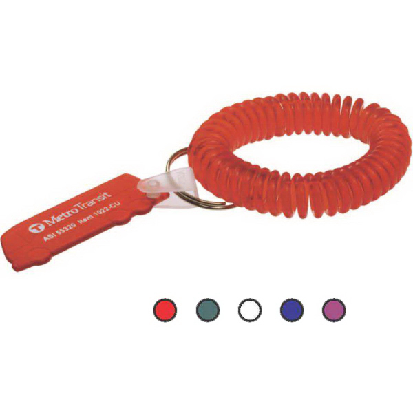 Promotional Stretchable Wrist Coil with Bus Tag