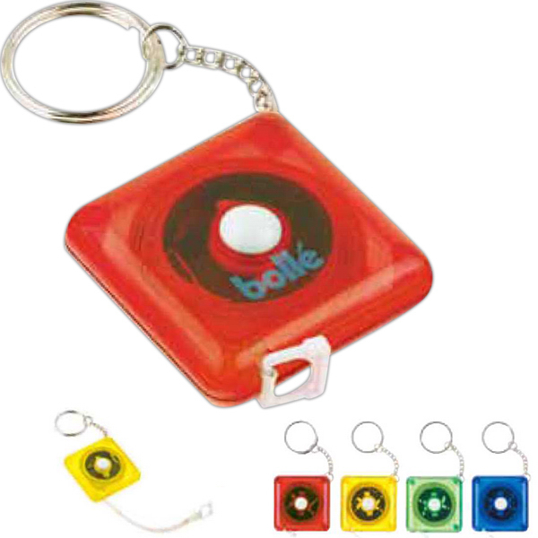 Custom Tape Measure Key Ring