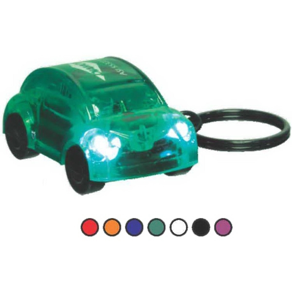 Customized Car-Shape Flashlight with 2 White Headlights