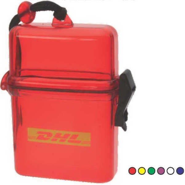 Imprinted Translucent Plastic Water box with Rope