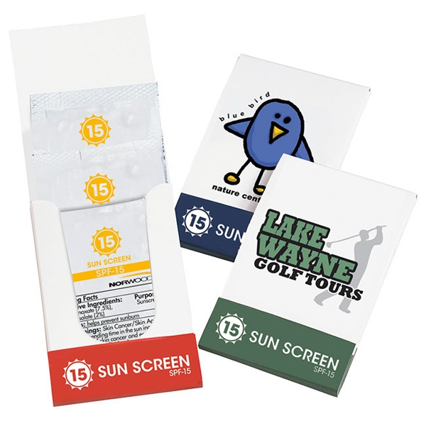 Customized SPF-15 Sunscreen Lotion Pocket Pack