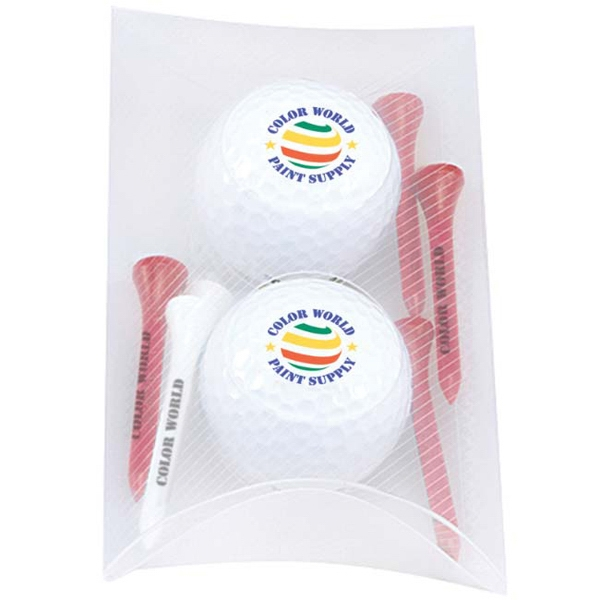 Imprinted 2 Ball Pillow Pack- Titleist (R) DT(R) SoLo