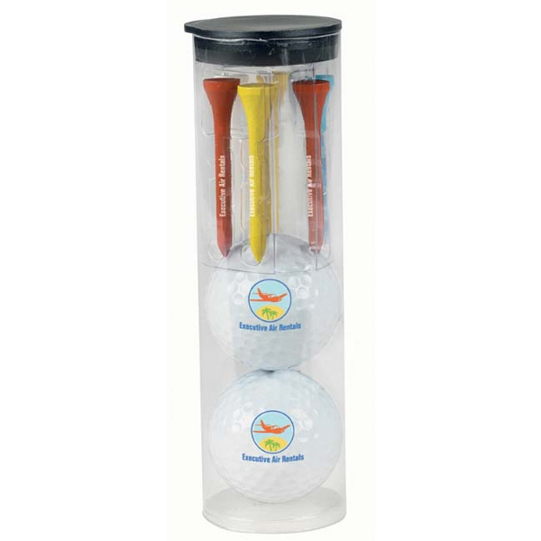 Personalized Par Pack with 2 Balls-N-Tees - Titleist (R) DT(R) SoLo