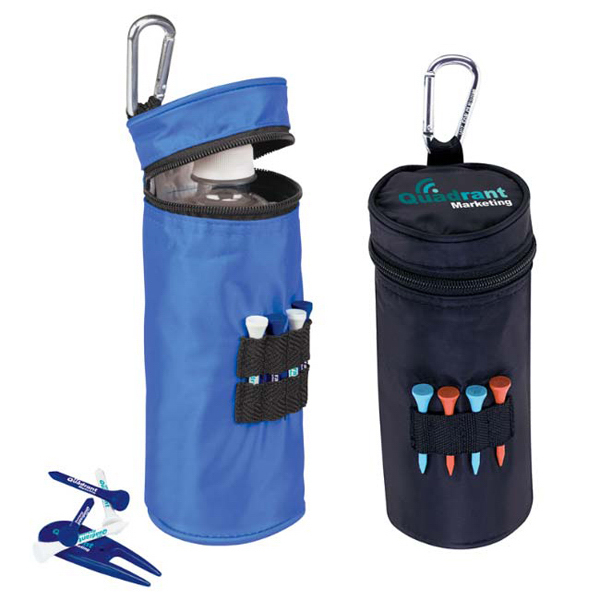 "Imprinted Water Bottle Cooler with Tees - 3-1/4"" Tee"