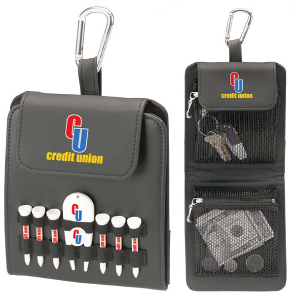 "Promotional Folding Golf Caddy - 2-1/8"" Tee"