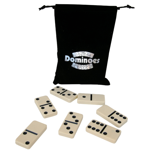 Custom Double Six Domino Sets in Custom-Imprinted bags