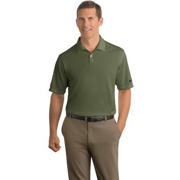 Personalized Nike golf Dri-fit pebble texture sport shirt