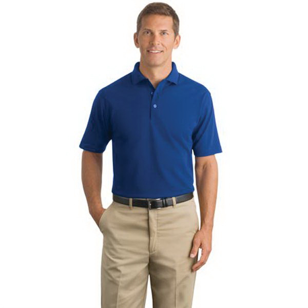 Imprinted Cornerstone® industrial pocketless pique polo