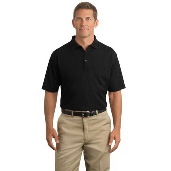 Customized Cornerstone® industrial pocket pique polo