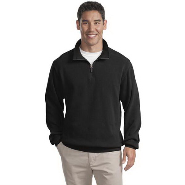 Printed Port Authority® flatback rib 1/4-zip pullover