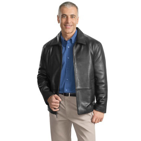 Imprinted Port Authority ® park avenue lambskin jacket