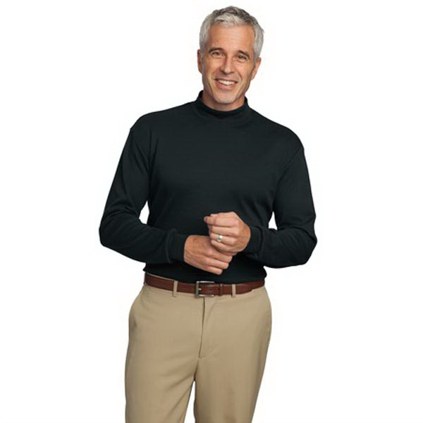 Custom Port Authority® interlock knit mock turtleneck