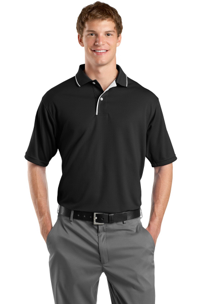 Promotional Sport-Tek® Dri-Mesh® polo with tipped collar and piping