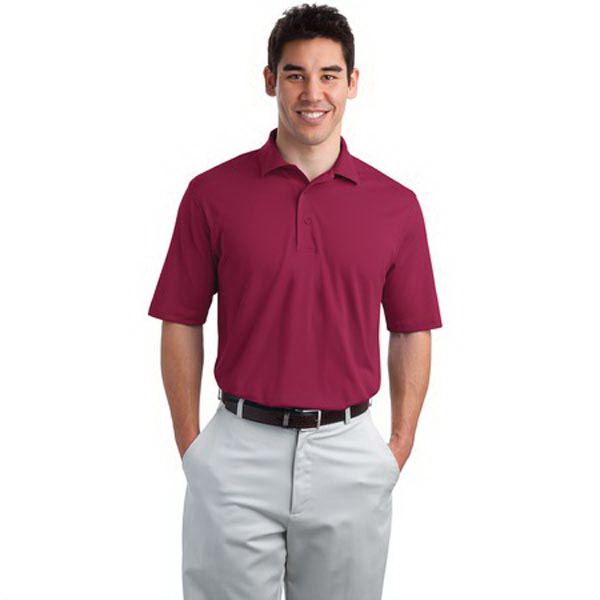 Imprinted Port Authority® sport polo with Pima Cool technology