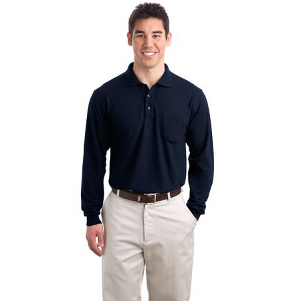 Personalized Port Authority® Silk Touch long sleeve sport shirt