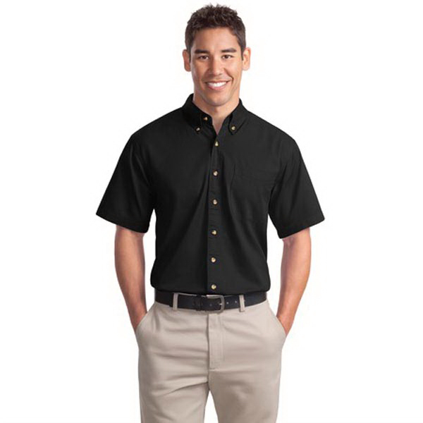 Imprinted Port Authority® short sleeve twill shirt