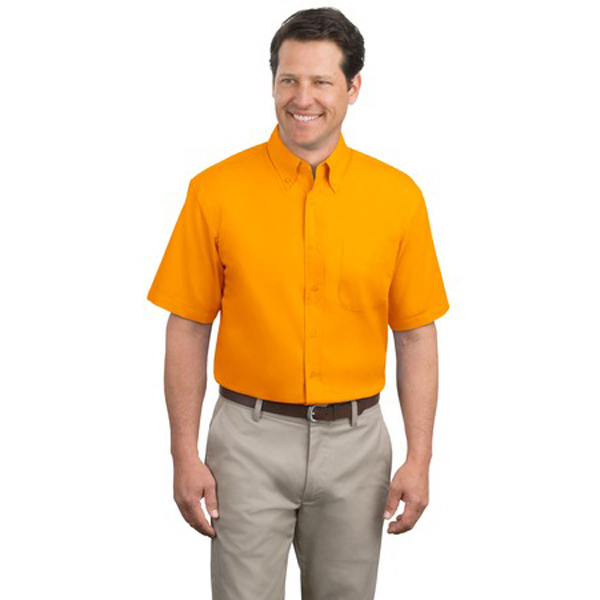 Imprinted Port Authority® short sleeve easy care shirt