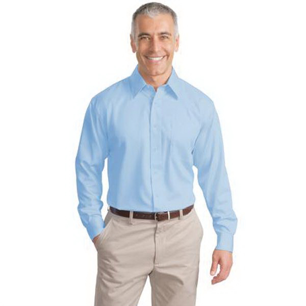 Customized Port Authority® long sleeve non-iron twill shirt