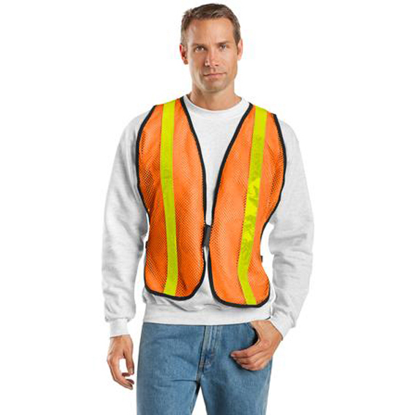 Imprinted Port Authority® mesh safety vest