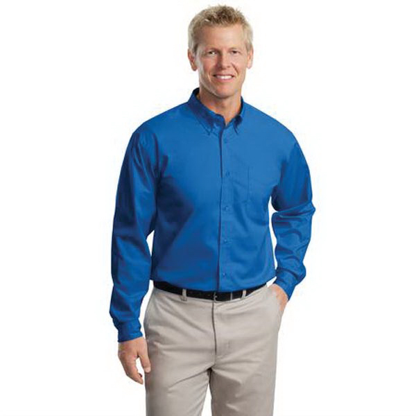 Promotional Port Authority® long sleeve extended size easy care shirt