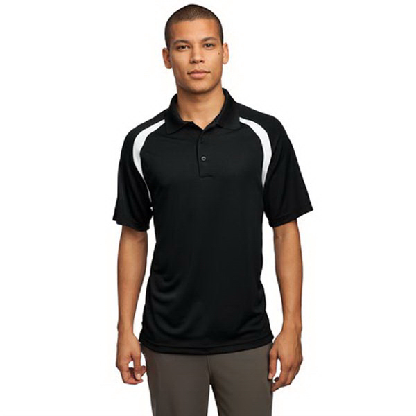 Personalized Sport-Tek® Dry Zone(TM) colorblock sport polo shirt