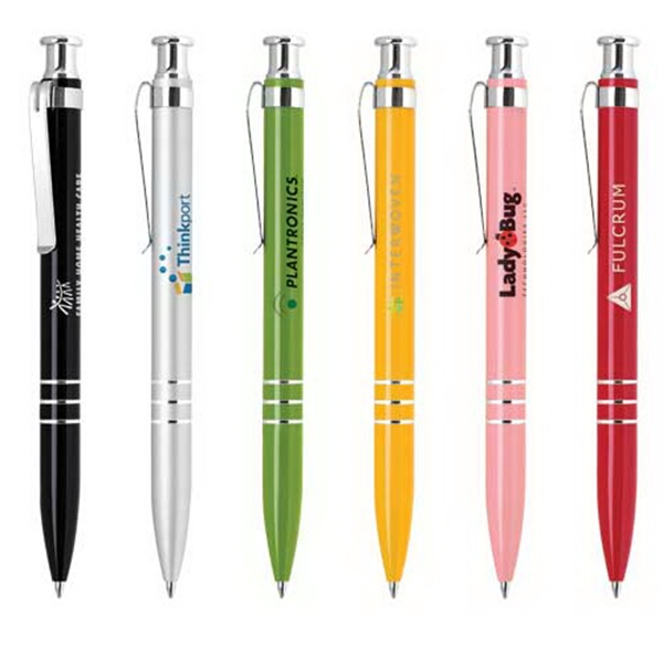 Customized Click-Action Aluminum Ballpoint Pen