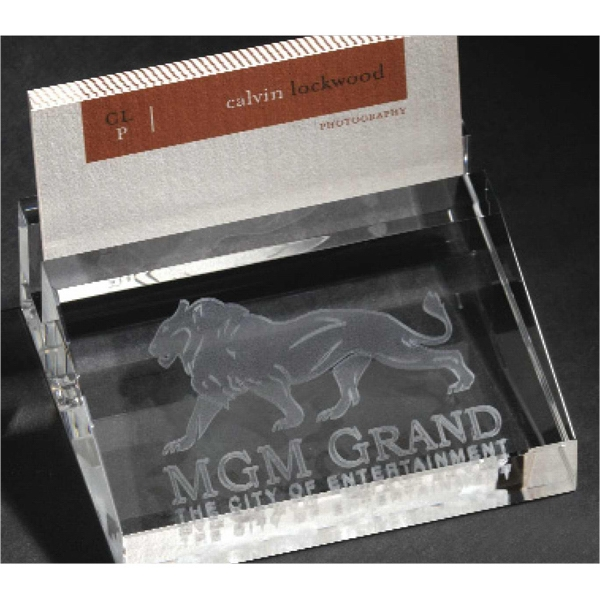 Personalized 3D Crystal Business Card Holder
