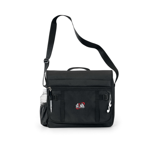 Imprinted Global Messenger Bag